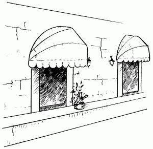фото козырьки над окнами